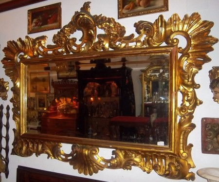 Antiguedades y arte siglo xx jfernandezantic espejos y for Espejos con marco de madera decorados